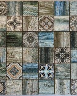 Naturstein Mosaik Florence Light Blue ist ein Mosaike im Retro Style.