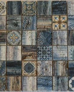 Naturstein Mosaik Florence Blue ist ein Mosaike im Retro Style