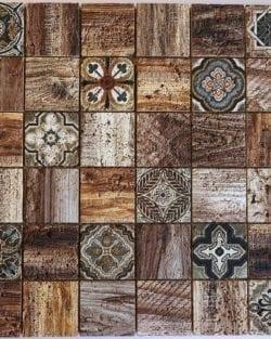 Naturstein Mosaik Florence Brown ist ein Mosaike im Retro Style