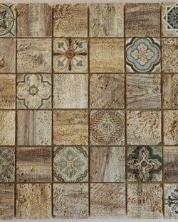 Mosaico in pietra naturale Florence Beige è un mosaico in stile retrò