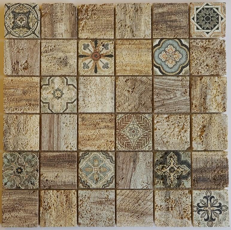 Naturstein Mosaik Florence Beige ist ein Mosaike im Retro Style