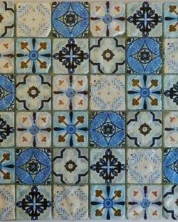 Mosaico in vetro Naples Sky è un mosaico in stile retrò.