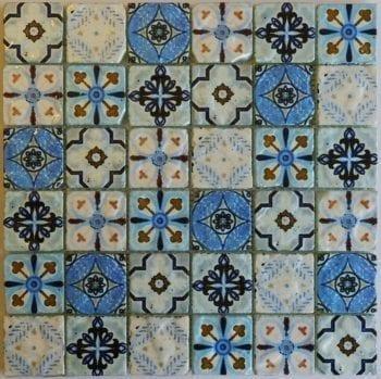 Glas Mosaik Naples Sky ist ein Mosaike im Retro Style