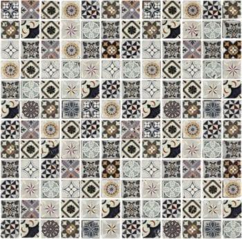 Naturstein Mosaik Heritage Mix ist ein Mosaike im Retro Style.