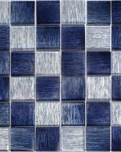 GLAMOUR saphire blue ist ein Glas Mosaike mit unglaubliche Tiefenwirkung.