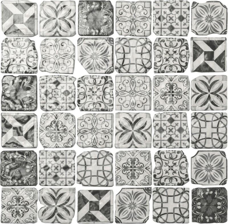 Glas Mosaik RETRO/5 ist ein Glas Mosaike im Retro Style