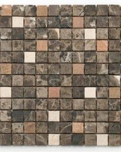 Square Emperador beige cream Klassisches Naturstein Mosaik in diversen Uni- und Mix Farbabstimmungen.