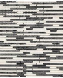 MINI STICK Nero geschnittenes Naturstein Mosaik