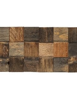 WOOD STYLE Checks Holz Recycling Mosaik