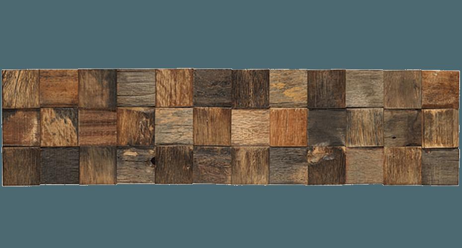 WOOD STYLE Checks Holz Recycling Mosaik