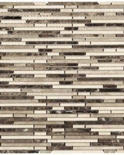 MINI STICK Emperador in Stäbchen geschnittenes Naturstein Mosaik