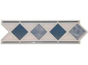 ACTION Marmor Blue Geben Sie Ihrem Bad einen entsprechenden Akzent, durch eine schlichte, schöne elegante Klassische Bordüre aus Keramik in diversen Ausführungen und Farben.