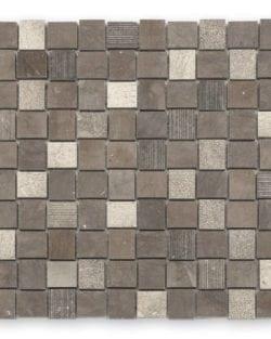 DJENNÉ Brown Naturstein Mosaike in Quadratischer oder Rechteckiger Ausführung in sehr fein abgestimmten Farblichen Erdtöne..