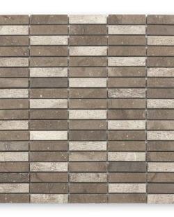 DJENNÉ Brown Stick Naturstein Mosaike in Quadratischer oder Rechteckiger Ausführung in sehr fein abgestimmten Farblichen Erdtöne.