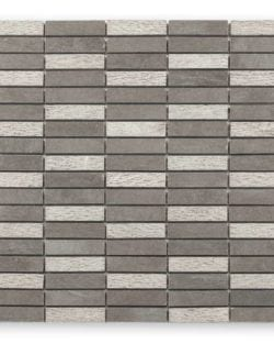 DJENNÉ Grey Stick Naturstein Mosaike in Quadratischer oder Rechteckiger Ausführung in sehr fein abgestimmten Farblichen Erdtöne.