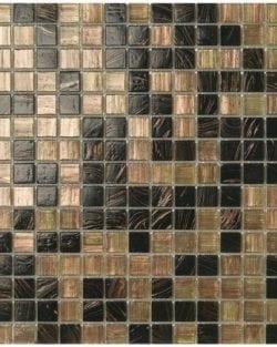 ETOILES Moka ist ein Klassisch, edles Glas Mosaik in diversen fein abgestimmten Farb-Mix.