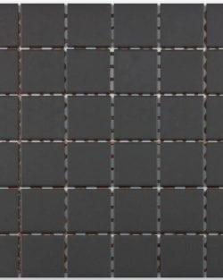GRIP Black unglasiert Keramisches Mosaik