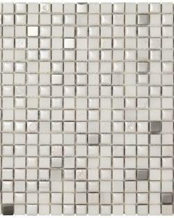 MEXICAL Modern Snow Metal ist ein Keramisches Mosaik, welches wir in verschiedenen Farbtönen anbieten.