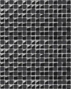 MICRO GLASS Black ist ein klassisch, edles Glas Mosaik in diversen fein abgestimmten Farben.