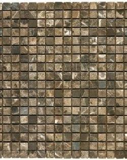 MODENA EMPERADOR Brown Klassisches Naturstein Mosaik in diversen Uni- und Mix Farbabstimmungen.
