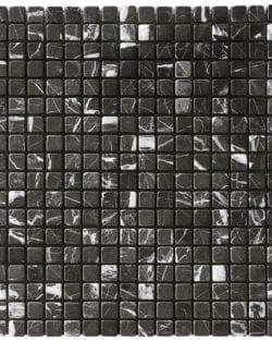 MODENA NERO Klassisches Naturstein Mosaik in diversen Uni- und Mix Farbabstimmungen.
