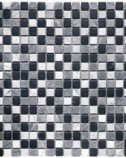 MODENA NERO Mix Klassisches Naturstein Mosaik in diversen Uni- und Mix Farbabstimmungen.