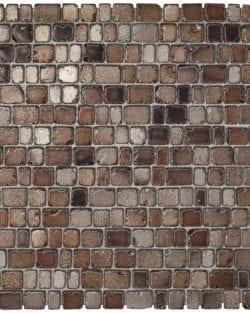 PRECIOUS Brown ist ein Glasmosaik in Steinoptik in diversen warmen Farbtönen.