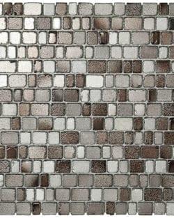 PRECIOUS Grey ist ein Glasmosaik in Steinoptik in diversen warmen Farbtönen.