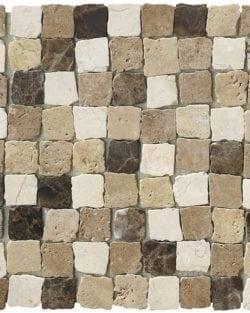 RABAT Emperador ist ein Naturstein Mosaike mit Bruchkanten um den Rustikalen Effekt zu bekommen, in diversen Farbtönen.