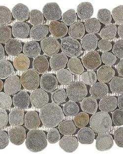 RODANO Grey flache, geschnittene Flusssteine.